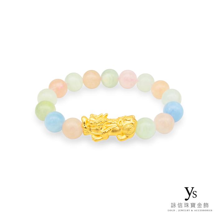 【女款】黃金貔貅手鍊-摩根石