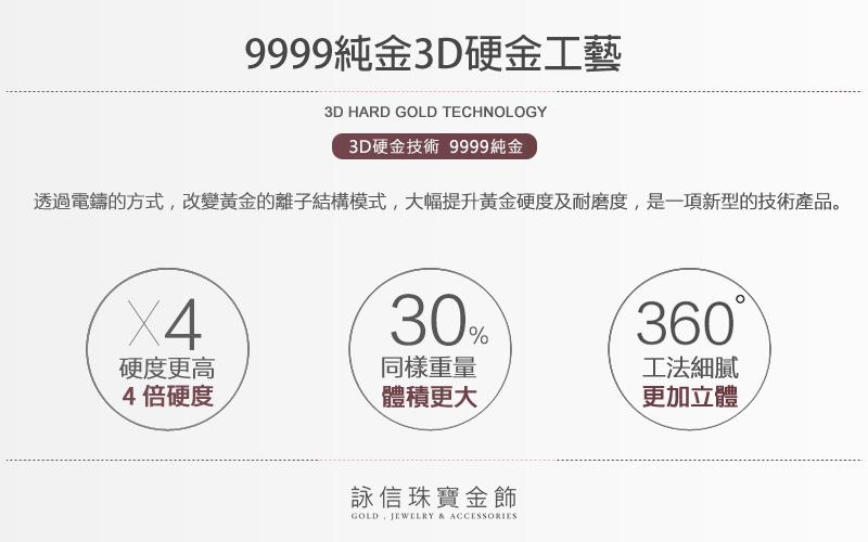 9999純金3D硬金工藝