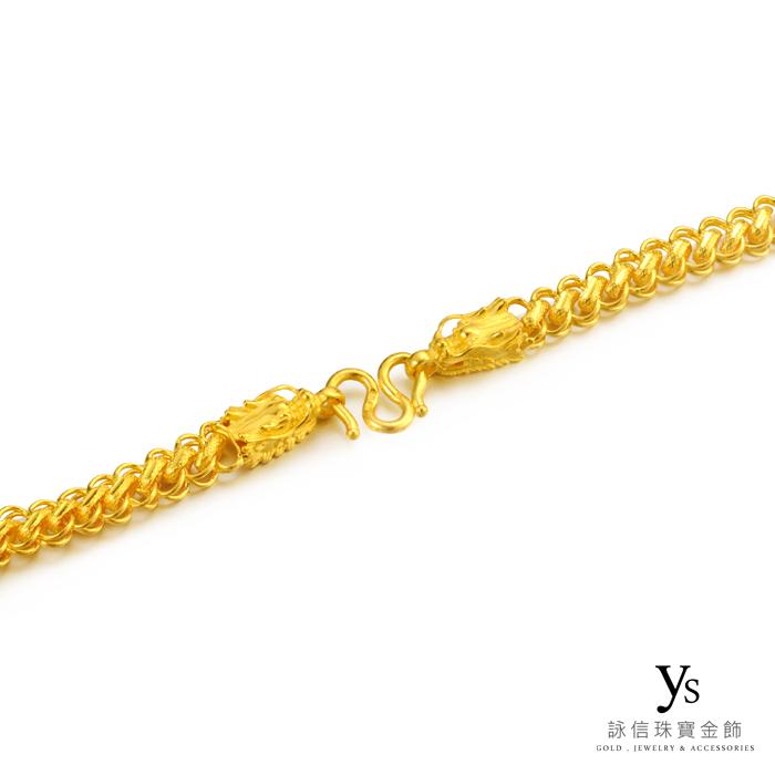 男生黃金項鍊-龍頭黃金項鍊
