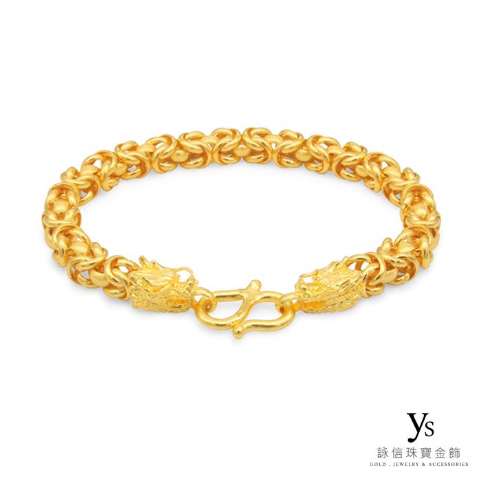 黃金手鍊-龍款線圈黃金手鍊