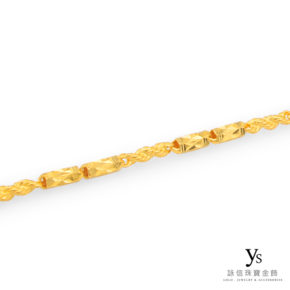 黃金項鍊-六角繩索純金項鍊