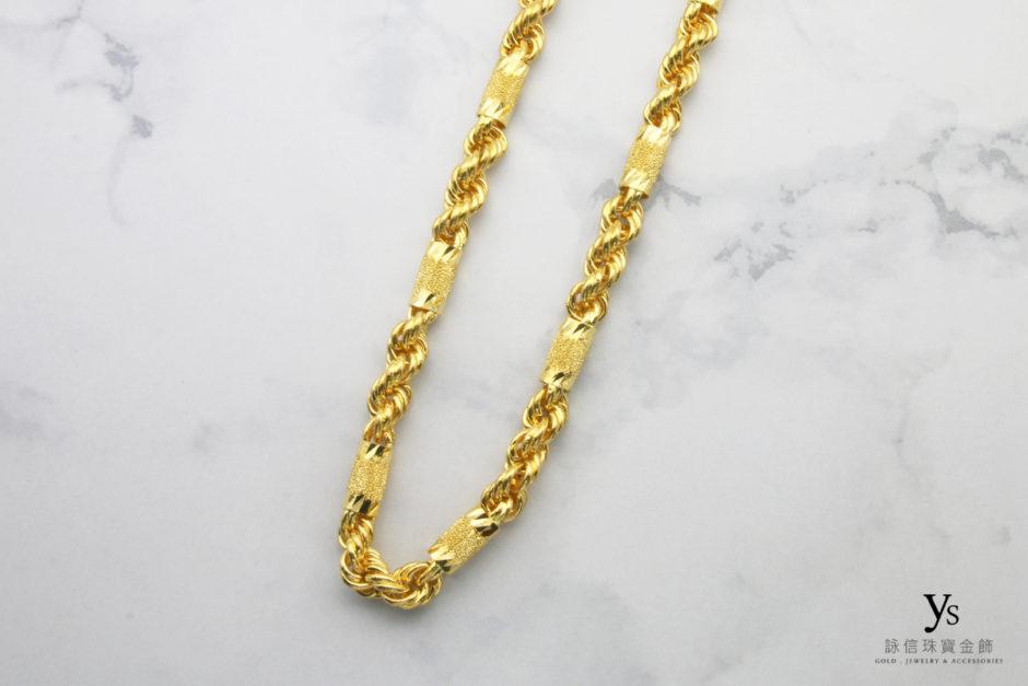 五兩六角繩索黃金項鍊