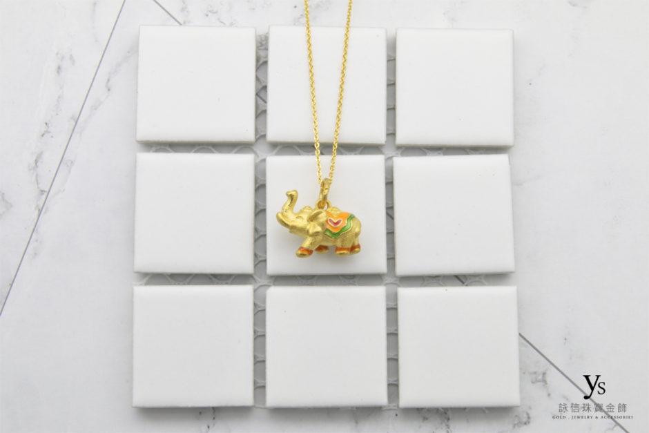 女生大象黃金項鍊4213