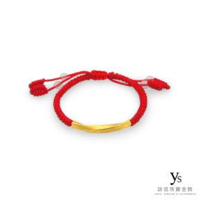 彌月金飾-中國結平安繩黃金手鍊