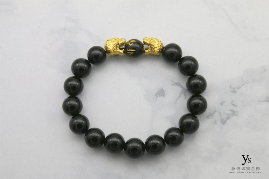 老虎黃金手鍊18041608
