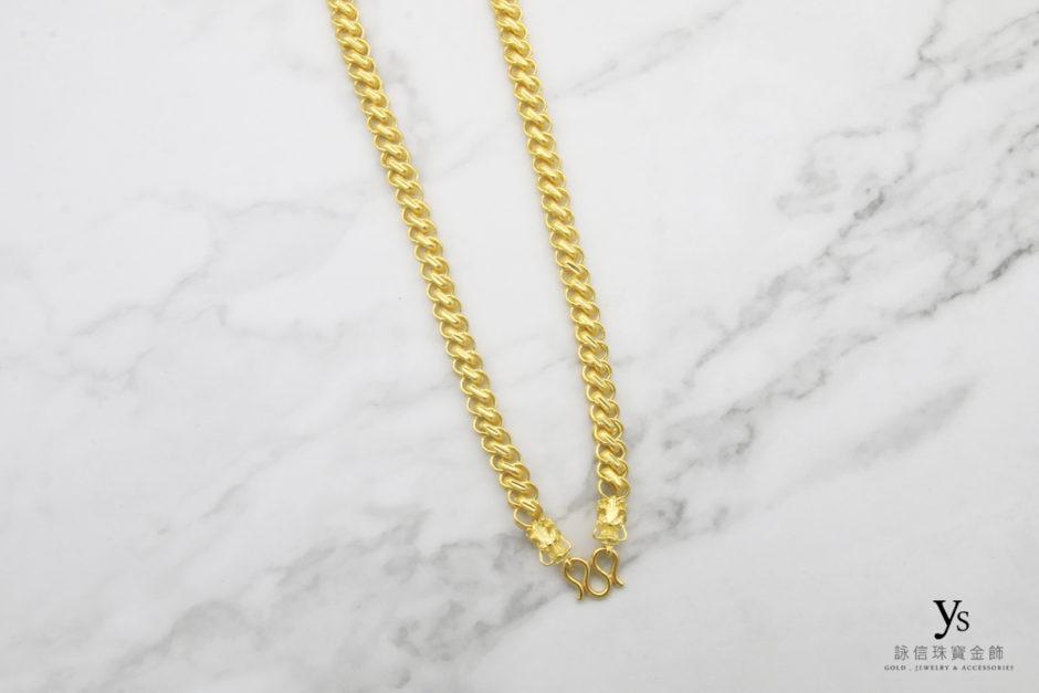 龍款男生黃金項鍊1842515