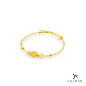 彌月金飾-金珠寶寶黃金手環