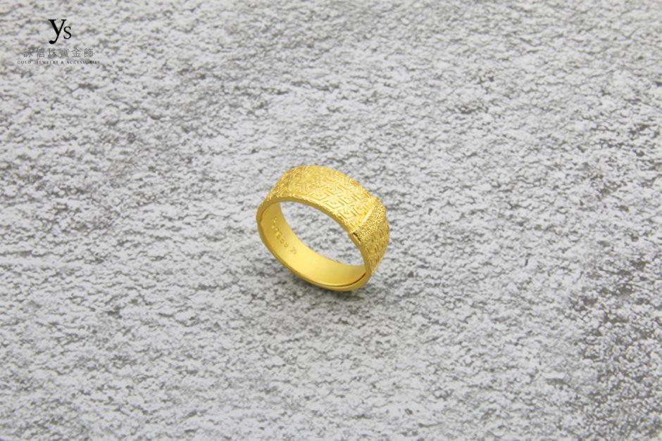 男生黃金戒指86112
