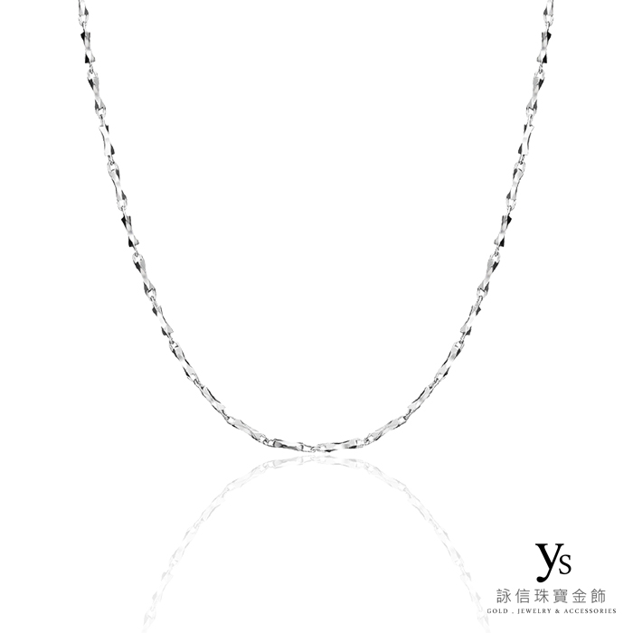 鉑金項鍊-極簡PT950鉑金刻花項鍊