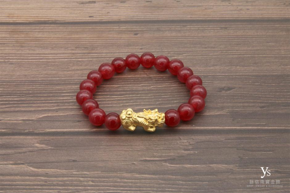 黃金貔貅手珠85179