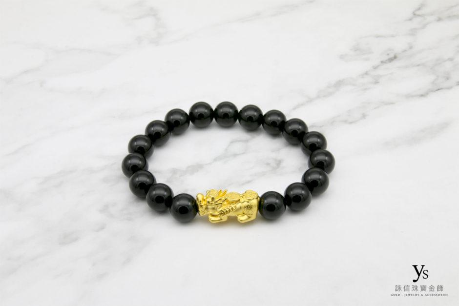 黃金貔貅手鍊843010