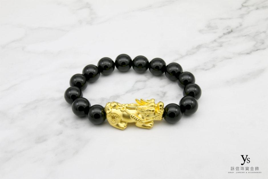 黃金貔貅手鍊843014