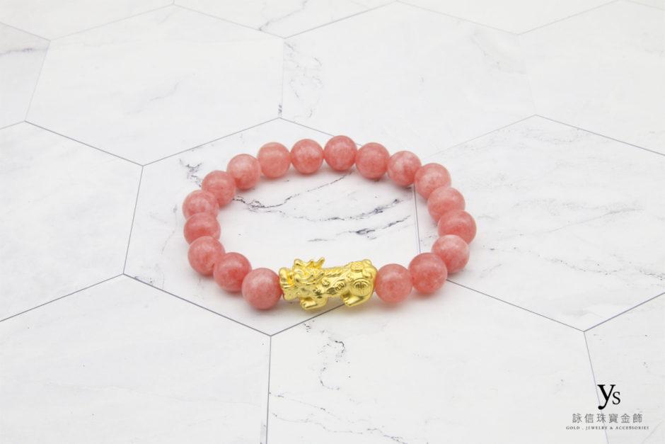 黃金貔貅石英石手珠85172
