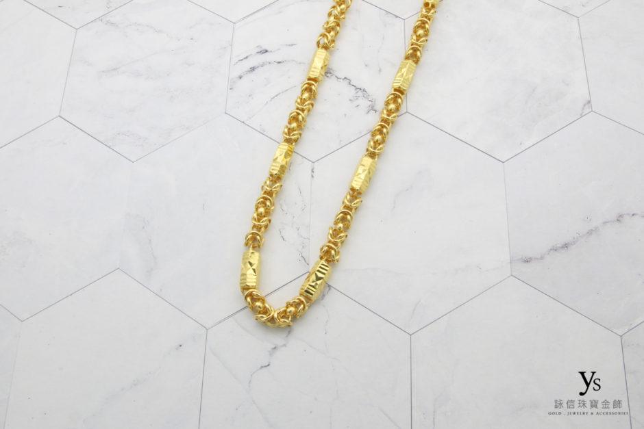 六角黃金項鍊85158