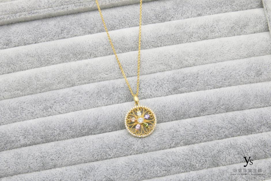 女生黃金項鍊1804115
