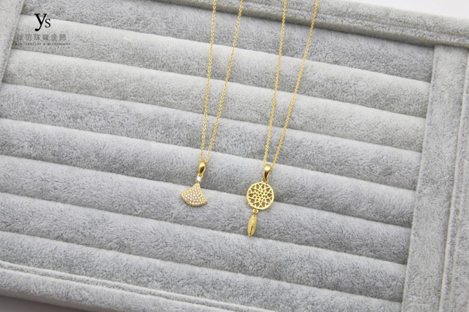 女生黃金項鍊1804116