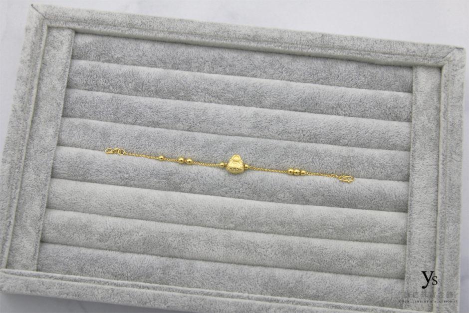 彌月金飾黃金手鍊180437