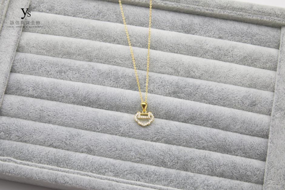 彌月金飾黃金項鍊18041134