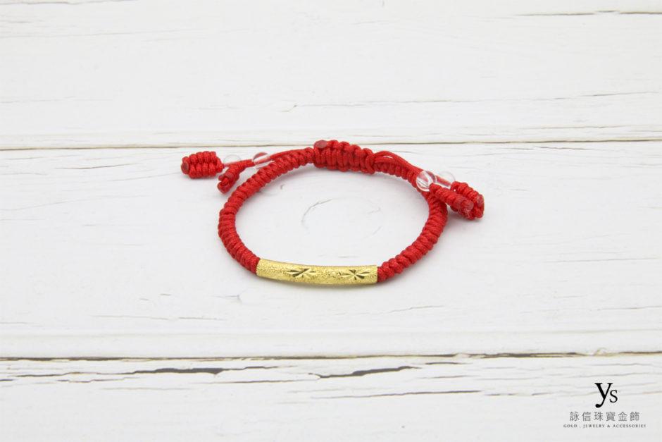 彌月金飾-紅繩黃金手鏈85161