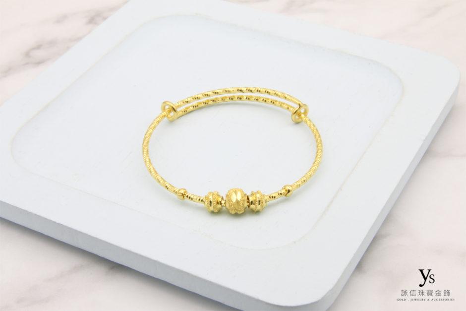 彌月金飾-黃金手環85165