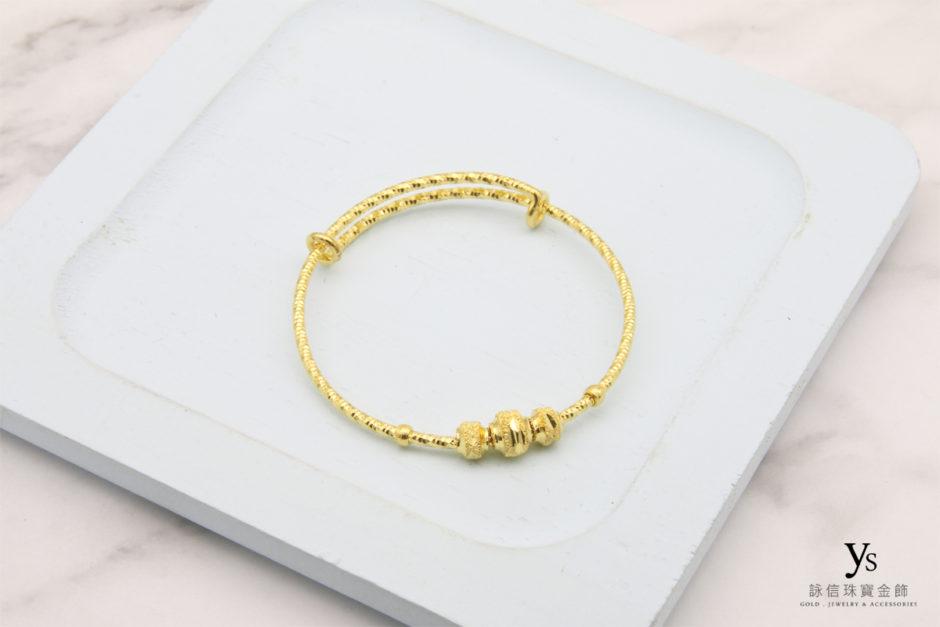 彌月金飾-黃金手環85166