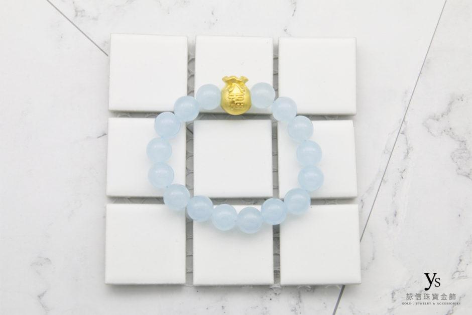 彌月金飾-黃金福袋手鏈852513
