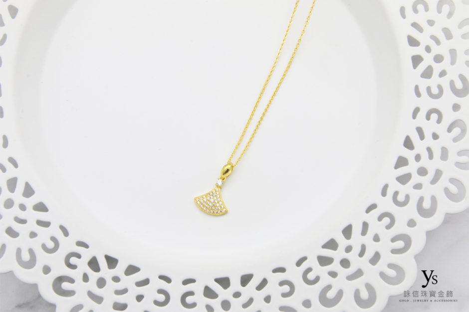 扇形小鑽黃金項鍊85283
