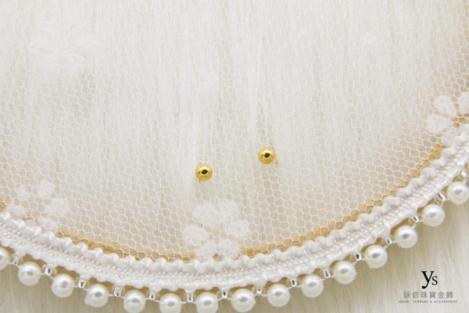 金珠黃金耳環8623