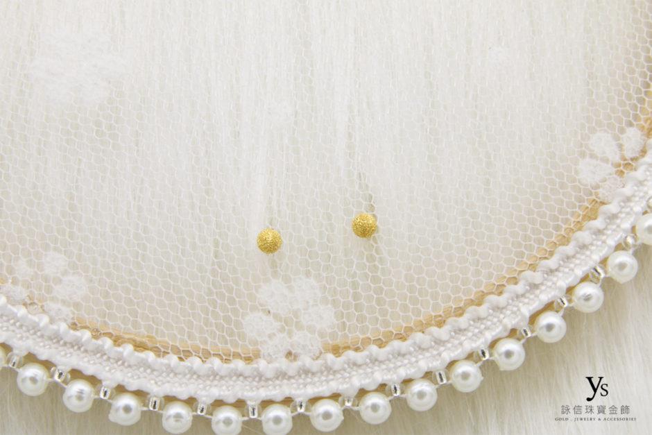 金珠黃金耳環8624