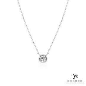 鉑金項鍊-極簡日系鉑金單鑽項鍊