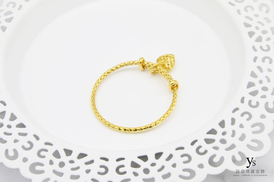 彌月金飾-寶寶黃金手環85284