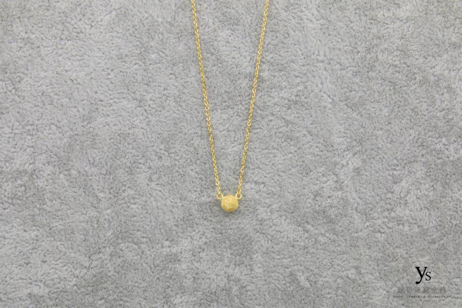 金球黃金項鍊8558