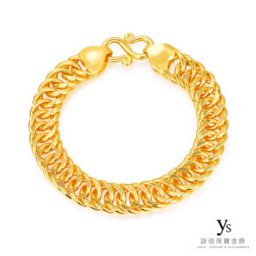 黃金手鏈-雙善黃金手鏈