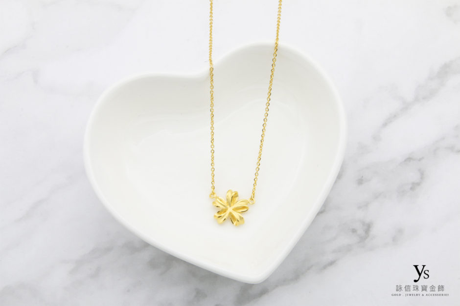 小緞帶黃金項鏈