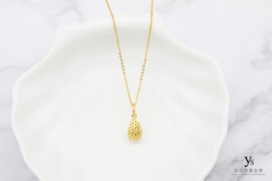 水滴黃金項鏈86115