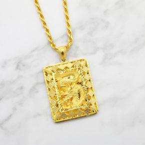 新款到貨-男生黃金墜子推薦