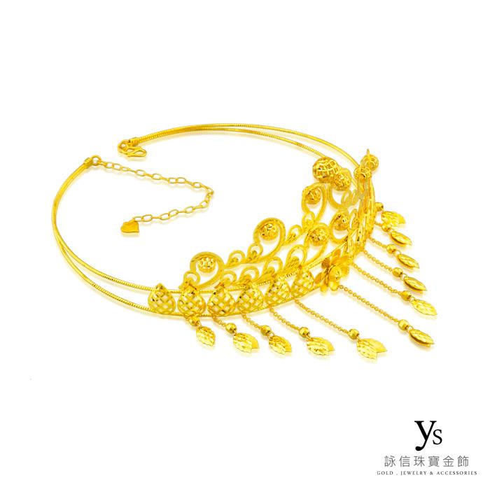 結婚金飾-璀璨黃金頭飾