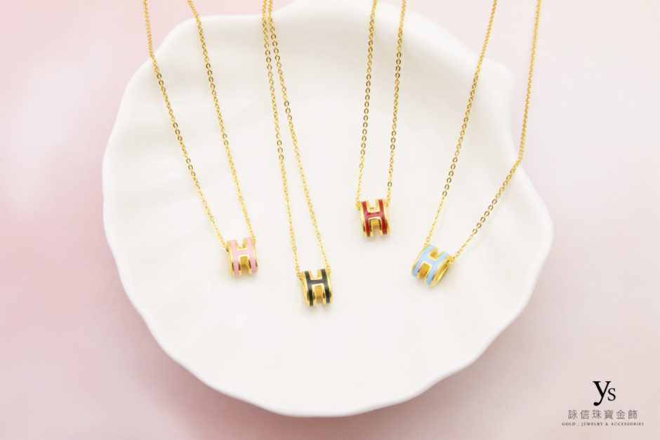 9999硬金H黃金項鏈