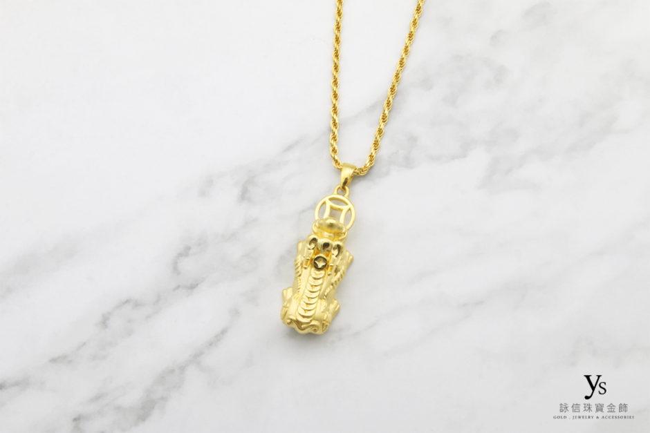 招財貔貅黃金墜