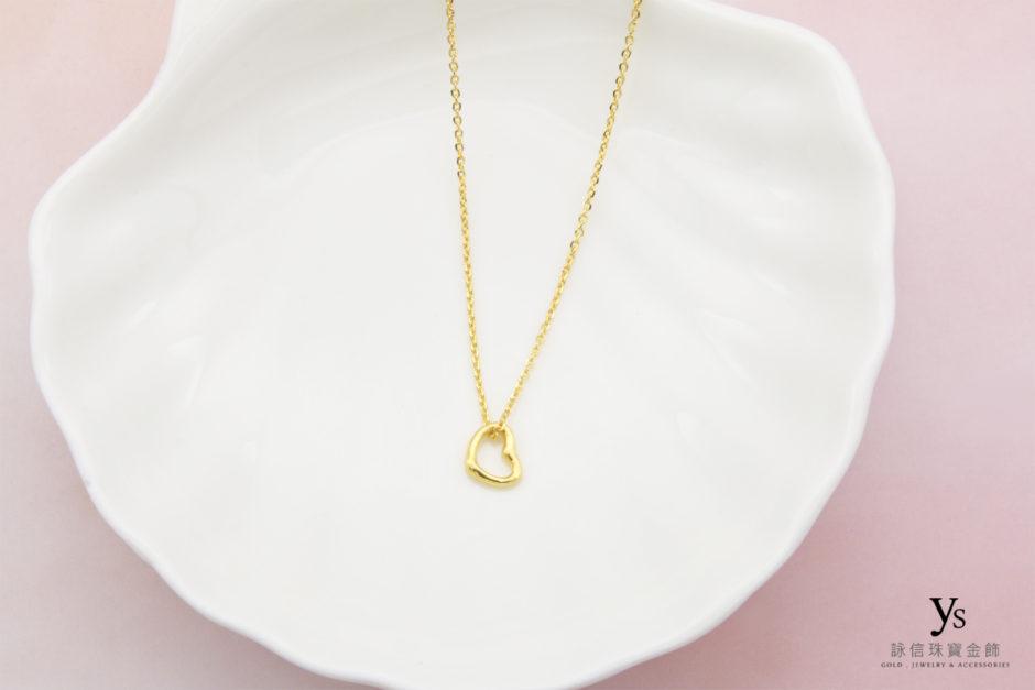 黃金小套鍊-小愛心黃金項鍊