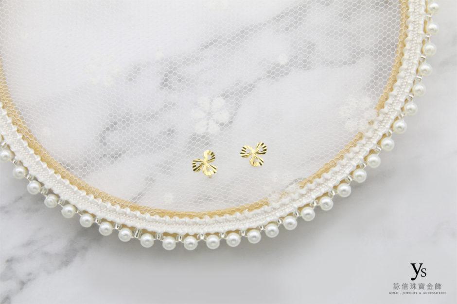 黃金耳環-三葉草黃金耳環