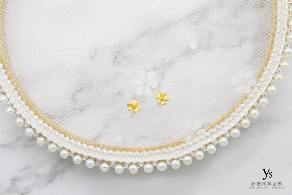 黃金耳環-小花黃金耳環8952