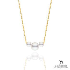 黃金項鍊-極簡珍珠黃金項鍊