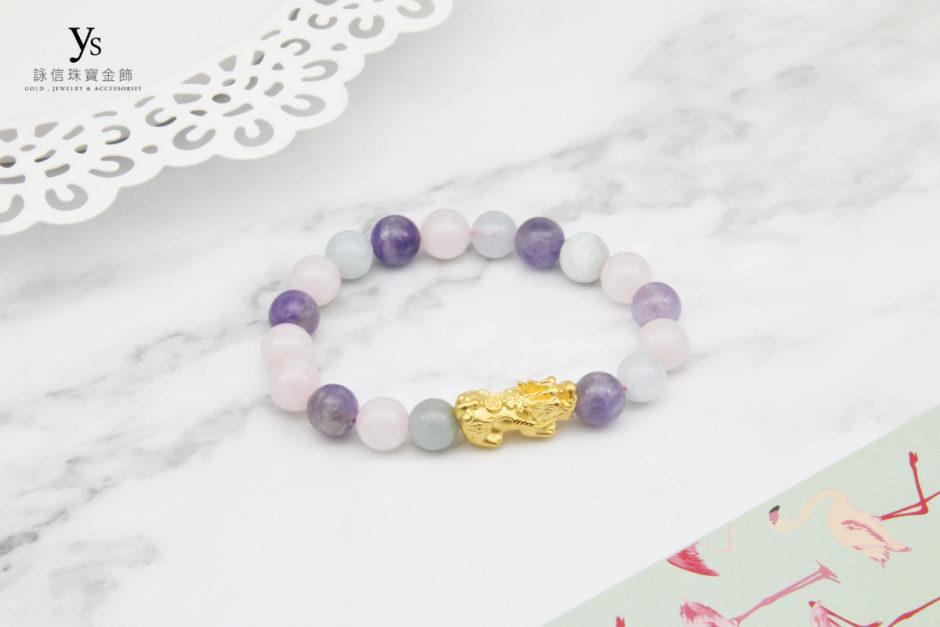 夢幻水晶黃金貔貅手珠