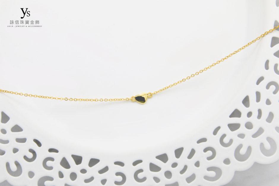 女生黃金手鏈-愛心黃金手鍊