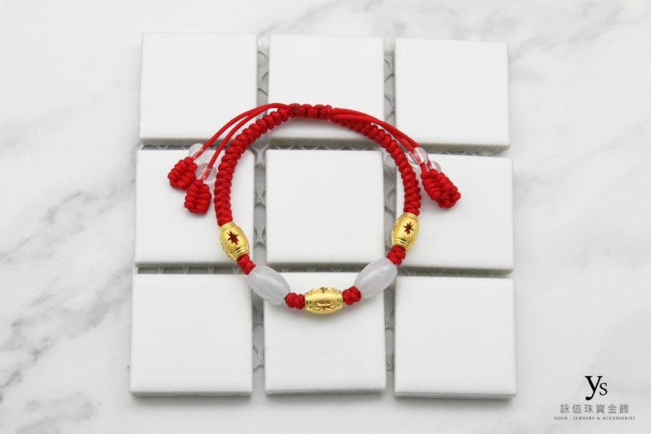 彌月金飾-中國結黃金手繩