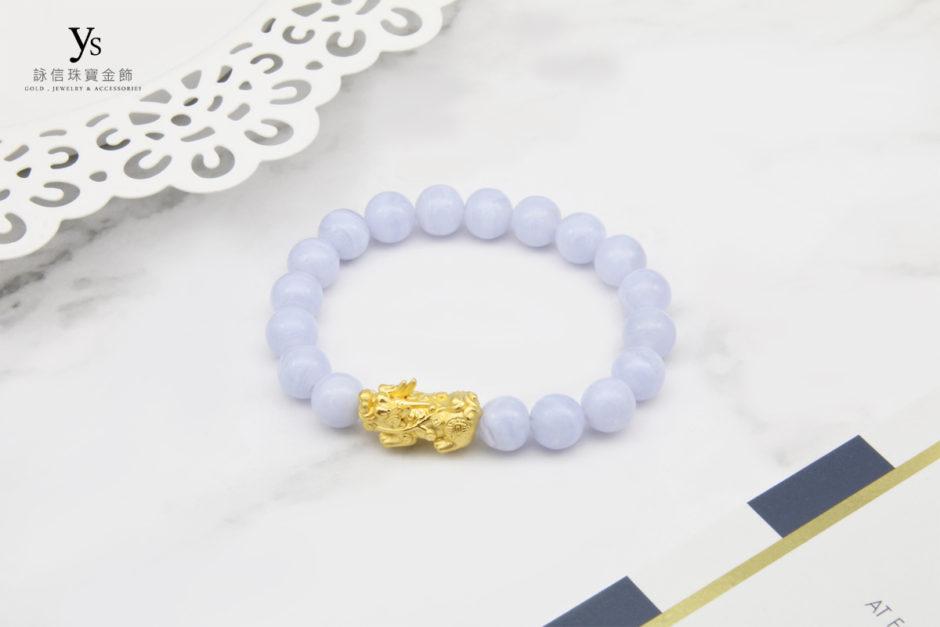 藍紋石黃金貔貅手鏈