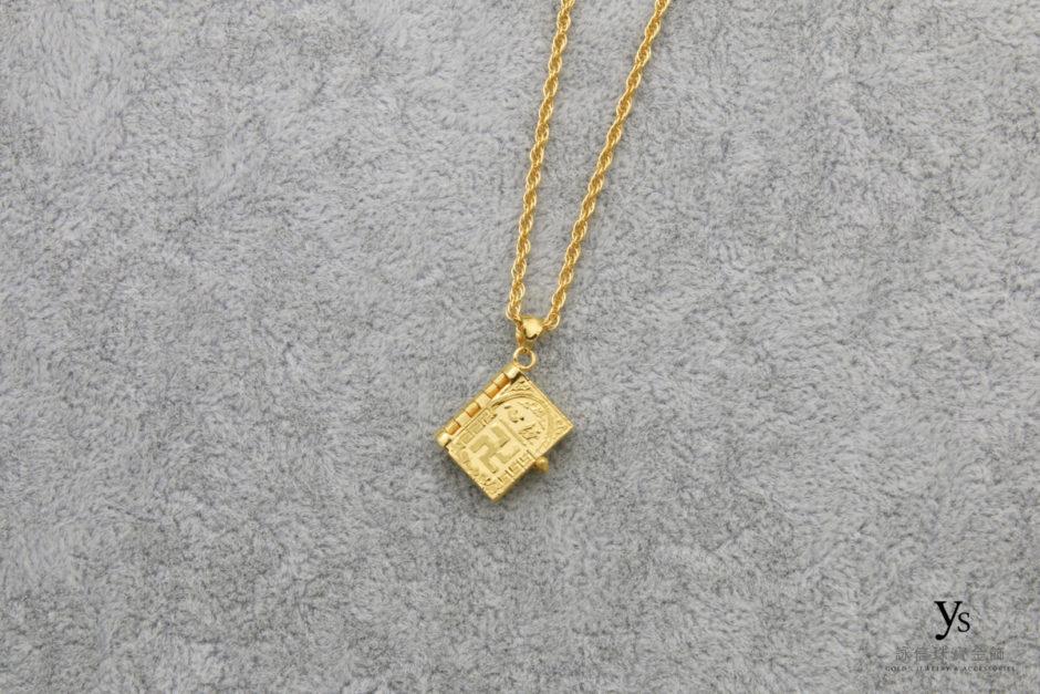 黃金墜子-心經黃金墜