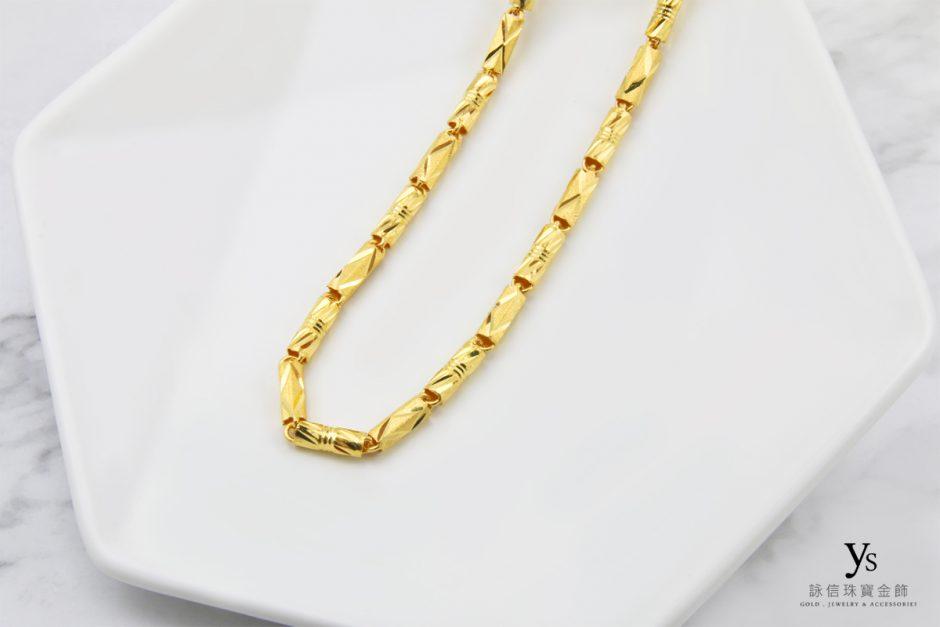 男生黃金項鏈-一兩管狀黃金項鍊