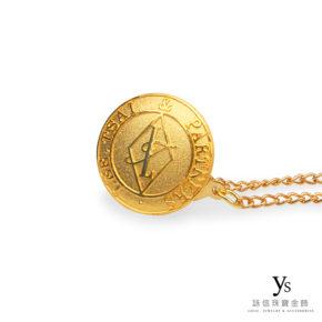 黃金胸章訂做-客製化黃金胸針